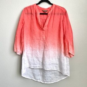 Tommy Bahama Women's Ombre Linen Popover Blouse